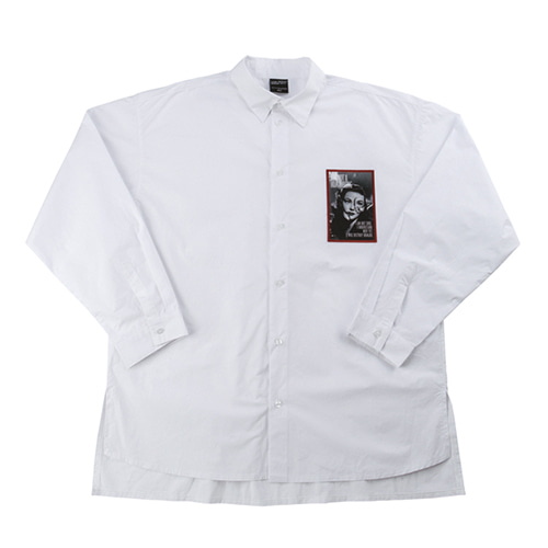 Art Embroidery Shirts - WHITE