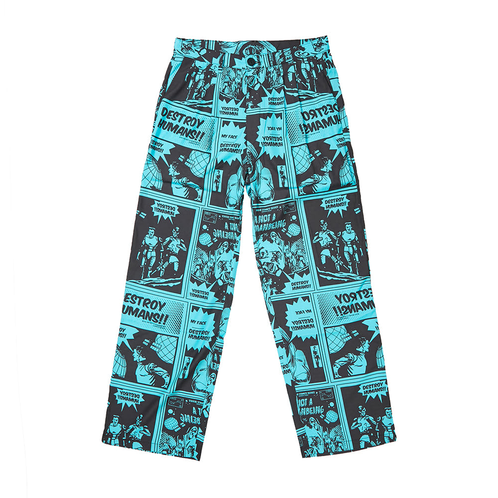 Comics Pants - TEAL