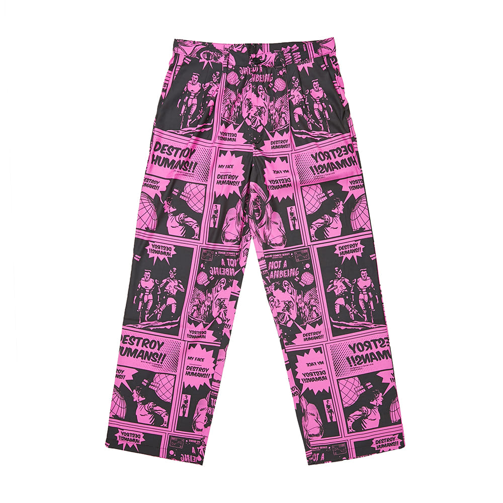 Comics Pants - DUST PINK