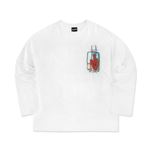 Brain Baggage Long Sleeve T-Shirt - WHITE
