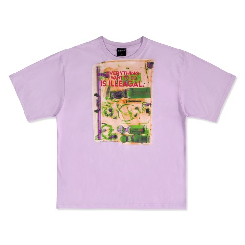 Big Baggage Short Sleeve T-Shirt - PURPLE
