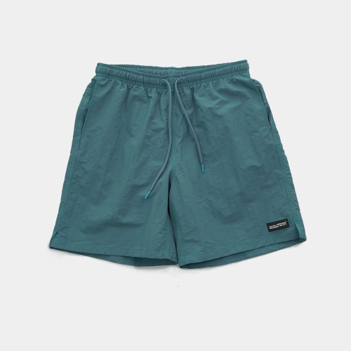 RUBBER PATCHED SHORTS - GREEN