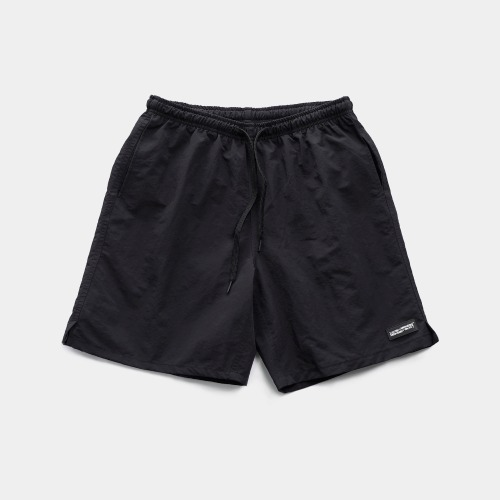 RUBBER PATCHED SHORTS - BLACK