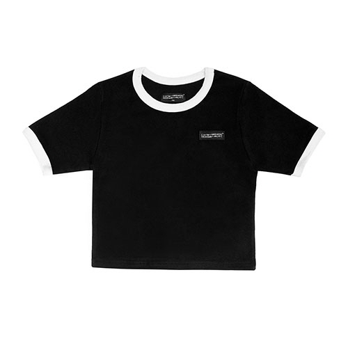 [18FW] LOGO CROP T SHIRT - BLACK