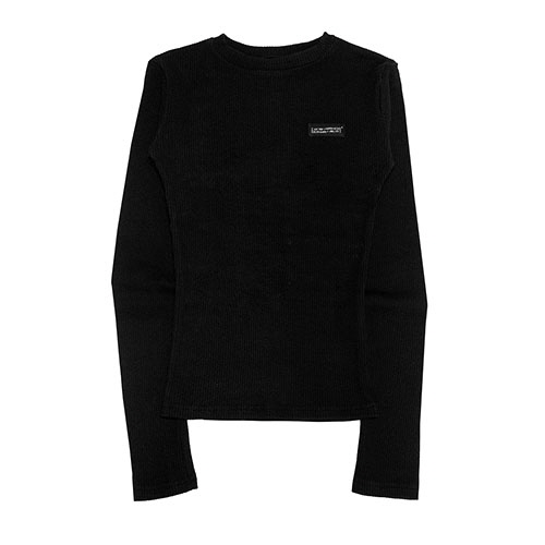 [18FW] LOGO PATCHED L/S T- SHIRTS - BLACK
