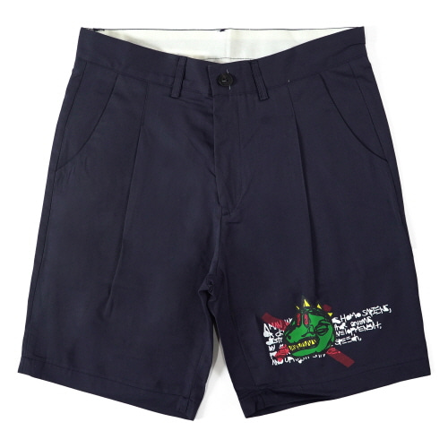NOT A HUMANBEING SHORTS - NAVY